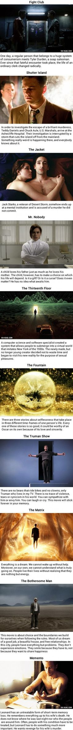 10 Movies That Will Absolutely Blow Your Mind I've never seen 'the fountain'.. it seems very good.