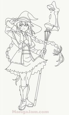 Elf Drawings, Outline Drawings, Anime Drawings Sketches, Anime Sketch, Lineart Anime, Anime Chibi, Cute Coloring Pages, Coloring Books, Colouring