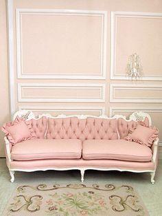 pink sofa...