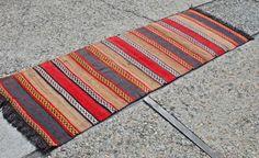 2'x 6' Runner Anatolian Turkish Nomad Kilim Area Rug by ZayleeShop