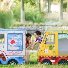 Cardboard food truck playhouses for kids just not satisfied with the same old cottages and castles.