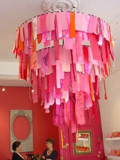 Crafter on a Budget: Lovely Paper Chandeliers