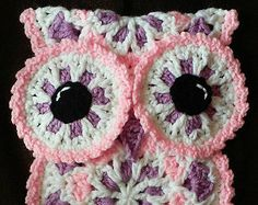 Crochet Owl Potholder pattern only