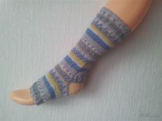 Yoga Socken, hand gestrickt, Pilates, tanzen, bunt blau gelb braun grau, Schurwolle, Polyamid, Baumwolle von LiMariann auf Etsy