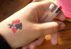 hand tattoos | Poker Tattoo On Hand