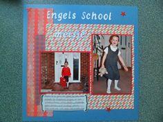 Engelse nichtje in haar schooluniform