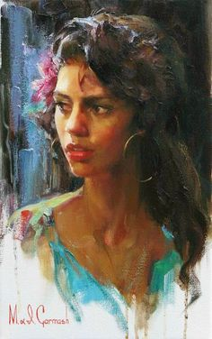 Mikhail (Michael) Garmash Lugansk, Ukraine) ed Inessa Garmash Lipetsk, Russia) are two award winning Russian painters, known for working in the Romantic /Impressionist /Figurative style. Painting People, Woman Painting, Painting & Drawing, Fine Art Gallery, Portrait Art, Beautiful Paintings, Female Art, Cool Art, Drawings