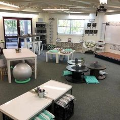 FLexible seating for the future--Who else thinks there should be a classroom edition HGTV show? 🙋♀️🙋♀️ I am obsessed with pretty set ups like this super stylish one from… Classroom Layout, 4th Grade Classroom, High School Classroom, Special Education Classroom, Classroom Design, Kindergarten Classroom, Future Classroom, Classroom Themes, Classroom Organization