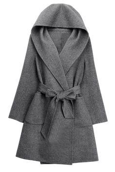 Hooded wool coat double coat (2 colors) http://moncler-online-shop.blogspot.com/ $161.99 cheap moncler coat
