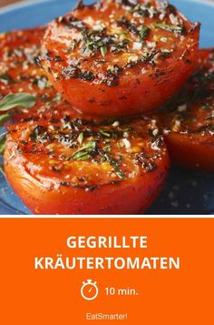 Tomates de hierbas a la parrilla - Tomates de hierbas a la parrilla – más inteligentes – tiempo: 10 min. Clean Eating Recipes For Dinner, Clean Eating Meal Plan, Clean Eating Breakfast, Clean Eating Snacks, Dinner Recipes, Clean Eating For Beginners, Recipes For Beginners, Snacks Sains, Vegetarian Recipes