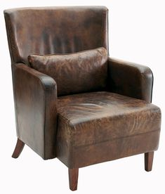 Drake Brown Leather Armchair