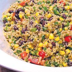 Quinoa Mexi-Lime salad This is the best quinoa salad I've ever had! Mexican Food Recipes, Vegetarian Recipes, Cooking Recipes, Healthy Recipes, Pie Recipes, Recipies, Healthy Snacks, Healthy Eating, Roh Vegan