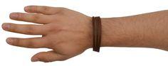 Dieses modische Armband besteht aus vegetabil gegerbtem Ziegenleder - Lederarmband - Vintage - Lederaccessoire - A125b