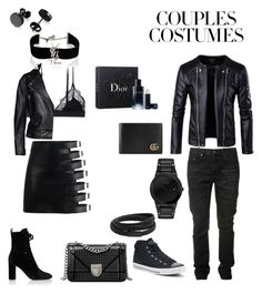 """""""🖤"""" by s-alabdulmuhsen ❤ liked on Polyvore featuring LoveStories, Acne Studios, Yves Saint Laurent, Converse, Citizen, MANGO MAN, Gucci and Christian Dior"""