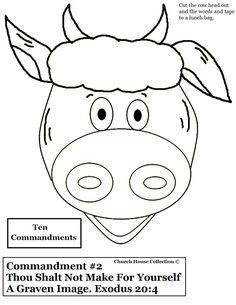 10 Commandments KJV Bible craft   Ten Commandments Coloring Pages