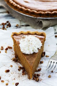 This classic pumpkin pie is incredibly easy to make and has perfect texture and flavor!  My mother is a classic over-do-er. Always has been. And bless her heart she really goes nuts when it comes to c
