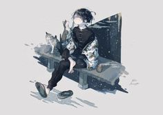 Anime Guys, Manga Anime, Anime Art, Anime People, Anime Sisters, Anime Galaxy, Boy Cat, Pretty Drawings, Anime Character Drawing