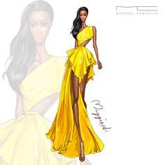 Michael Costello SS2016 Designer: Michael Costello Model: Adau Mornyang at New York Fashion Week