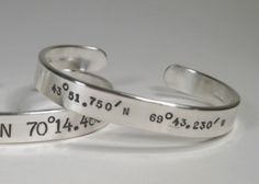 latitude & longitude cuffs