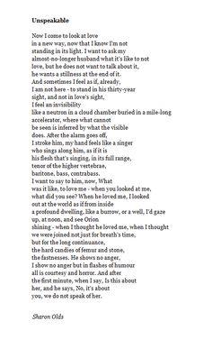 Sharon Olds Poems 7