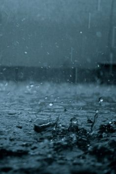 The sound of muffled screams were muted by the pouring rain. Yikes...That should be put in a mystery novel.