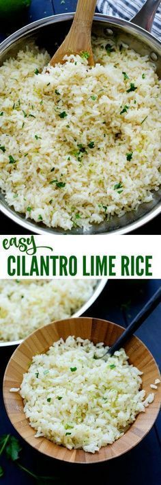 CILANTRO LIME RICE just like the one from Cafe Rio and we absolutely love it. It is my go-to rice recipe, besides our beloved Mexican Rice, that I make any time we're whipping up some Mexican food. Especially, on taco night. Kallen's been. Vegetarian Recipes, Cooking Recipes, Healthy Recipes, Cooking Tips, Vegetarian Mexican Food, Freezer Recipes, Pasta Recipes, Freezer Cooking, Budget Cooking