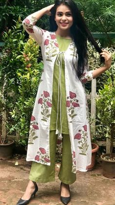 Different types of jacket salwar suits - Indian Fashion Ideas, Indian Fashion I. Simple Kurta Designs, Stylish Dress Designs, Kurta Designs Women, Kurti Neck Designs, Salwar Designs, Kurti Designs Party Wear, Designs For Dresses, Designer Party Wear Dresses, Indian Designer Outfits