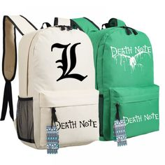 Everything on SALE & Free Worldwide Shipping! DEATH NOTE L Lawliet Killer Ryuuku Backpack Price: $ 36.00 & FREE Shipping #toys