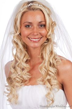 long wedding hair down | Long Curly Down Hairstyles for Wedding