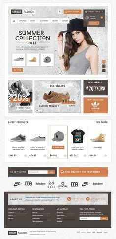 Street Fashion by Dawid Tomczyk, via Behance # webdesign E-mail Design, Logo Design, Web Ui Design, Creative Design, Design Ideas, Ecommerce Website Design, Website Design Layout, Web Layout, Layout Design