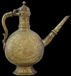 Deccan or Mughal Brass Ewer, India