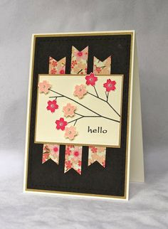 I love this way to use washi tape (I think it's wash tape... or even just strips of patterned paper would work).  Life on The Scrap Heap