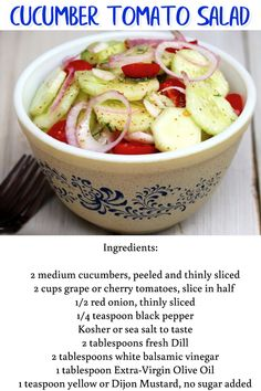 Summer Cookout Side Dish Ideas - Cucumber Tomato Salad - this easy BBQ party side dish is perfect for a large group and super easy to make