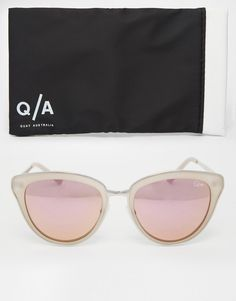 4d3e7c6f34b Shop Quay Australia Every Little Thing Cat Eye Sunglasses with Pink Lens at  ASOS.