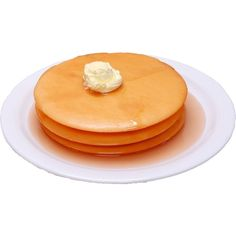 Pancakes 3 stack Plate - FAKE FOOD - Decorcentral.com - Flora-cal... ($30) ❤ liked on Polyvore featuring home, kitchen & dining, dinnerware, floral dinnerware, breakfast plate, flowered plates, floral plates and stacked plates