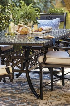Our Carlisle Onyx Dining Collection serves comfortable, sumptuous style in any setting, from palatial terraces to intimate verandas. | Frontgate: Live Beautifully Outdoors