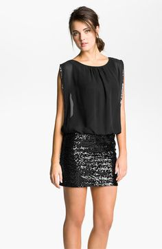 Aidan by Aidan Mattox Faux Two-Piece Chiffon & Sequin Dress (Online Only) available at #Nordstrom