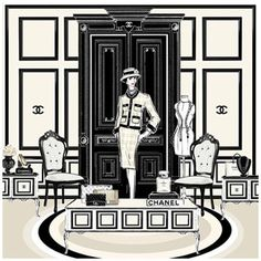 """Image of Megan Hess """"The Coco Chanel Room"""""""