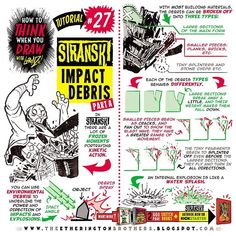 """144 Likes, 5 Comments - The Etherington Brothers (@etheringtonbrothers) on Instagram: """"Here's the next Stranski tutorial - How to THINK When You Draw IMPACT DEBRIS for explosions and…"""""""
