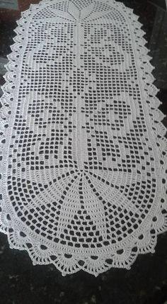 Crochet Table Runner Pattern, Free Crochet Doily Patterns, Crochet Tablecloth, Crochet Doilies, Crochet Stitches, Crochet Butterfly, Square Patterns, Crochet Home, Filet Crochet