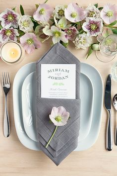 Table Setting Tips: The Diamond Pouch | Evermine Blog | www.evermine.com