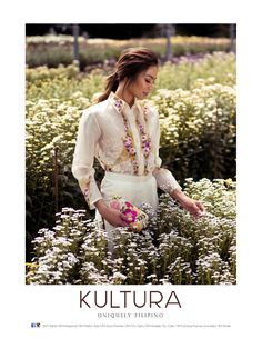 Hand-painted and embroidered barong in jusi silk from Kultura Filipiniana Wedding Theme, Modern Filipiniana Dress, Grad Dresses, Bridesmaid Dresses, Filipino Fashion, Philippines Fashion, Power Dressing, Style Guides, Barong Tagalog