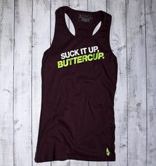 Suck It Up, Buttercup Active Tank - Purple/Lime - Gymdoll - Fitness Fashion and Motivational Workout Clothes for Women