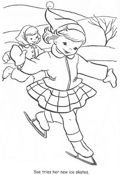Coloring Book~Little Miss Christmas and Santa - Bonnie Jones - Picasa Albums Web Christmas Coloring Pages, Coloring Book Pages, Coloring Sheets, Embroidery Patterns, Hand Embroidery, Sue Sunbonnet, Learning To Embroider, Cross Stitch Pillow, Christmas Colors
