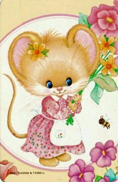 MOUSE AND FLOWERS