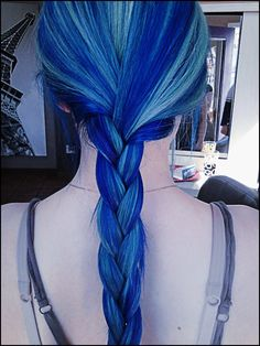 blue braid, just for the color