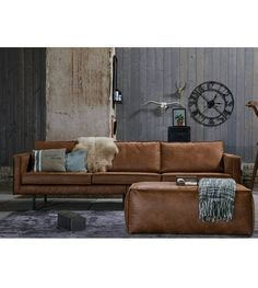 sofa moreno cognac kleur prachtig home decoration. Black Bedroom Furniture Sets. Home Design Ideas