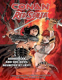 Conan/Red Sonja | Veja a prévia da primeira edição do crossover entre Conan e Red Sonja > Quadrinhos | Omelete