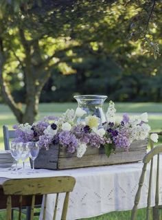 Lovely lilacs, simple elegance of purple, white & grey.