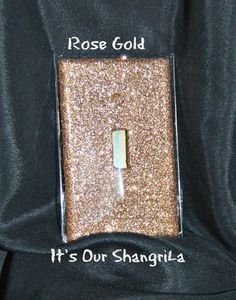 Decorative Glitter Switch Plate Cover by ItsOurShangriLa on Etsy